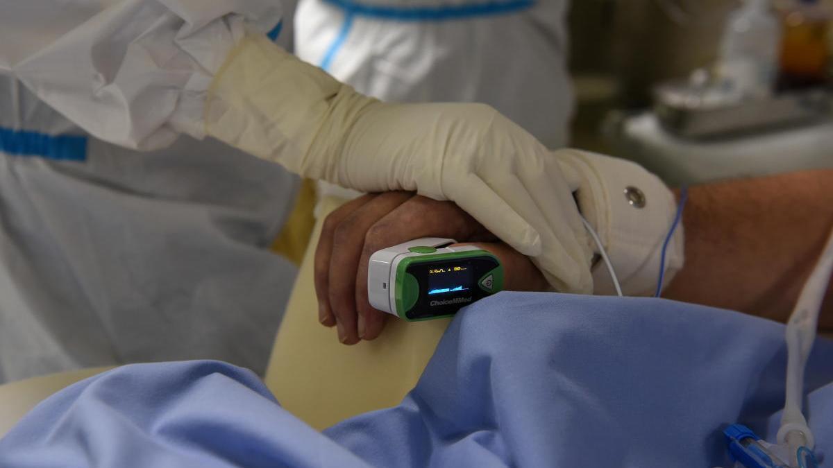 Un paciente con coronavirus en un hospital de Grecia