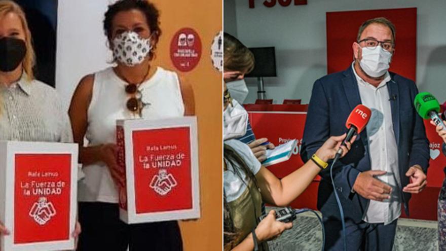 Lemus y Osuna presentan los avales para optar a liderar el PSOE provincial Badajoz
