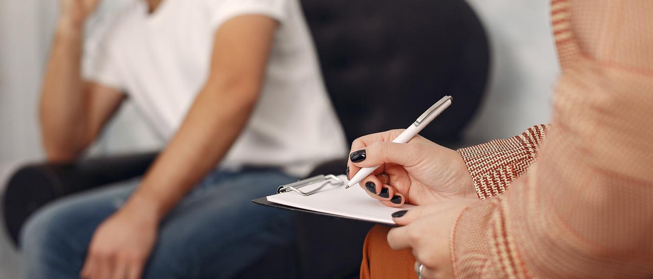 Un paciente en la consulta del psicólogo