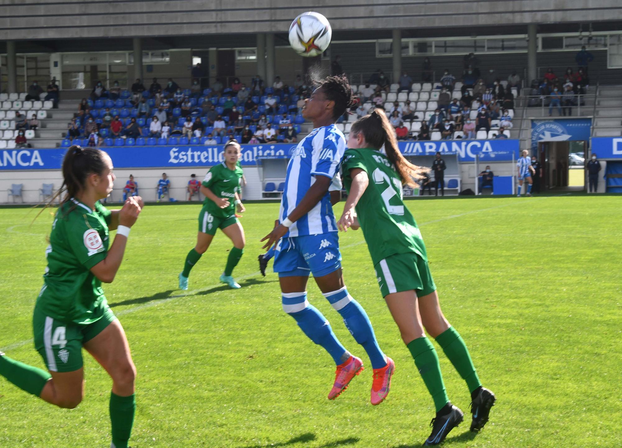 El Dépor Abanca doblega 1-0 en el último minuto al Sporting