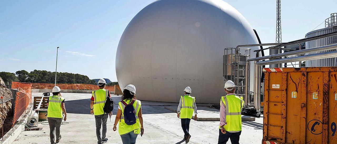 Depósitos de Ca na Putxa donde tiene lugar la desgasificación de la materia orgánica para obtener biogás. | ZOWY VOETEN