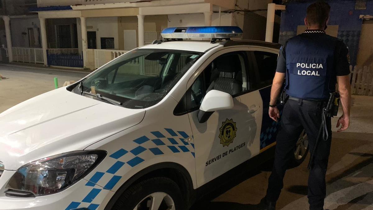 Unidades policiales.