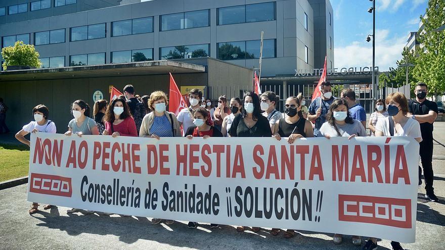 Los trabajadores de Santa María denuncian el trato a los pacientes por parte del Sergas