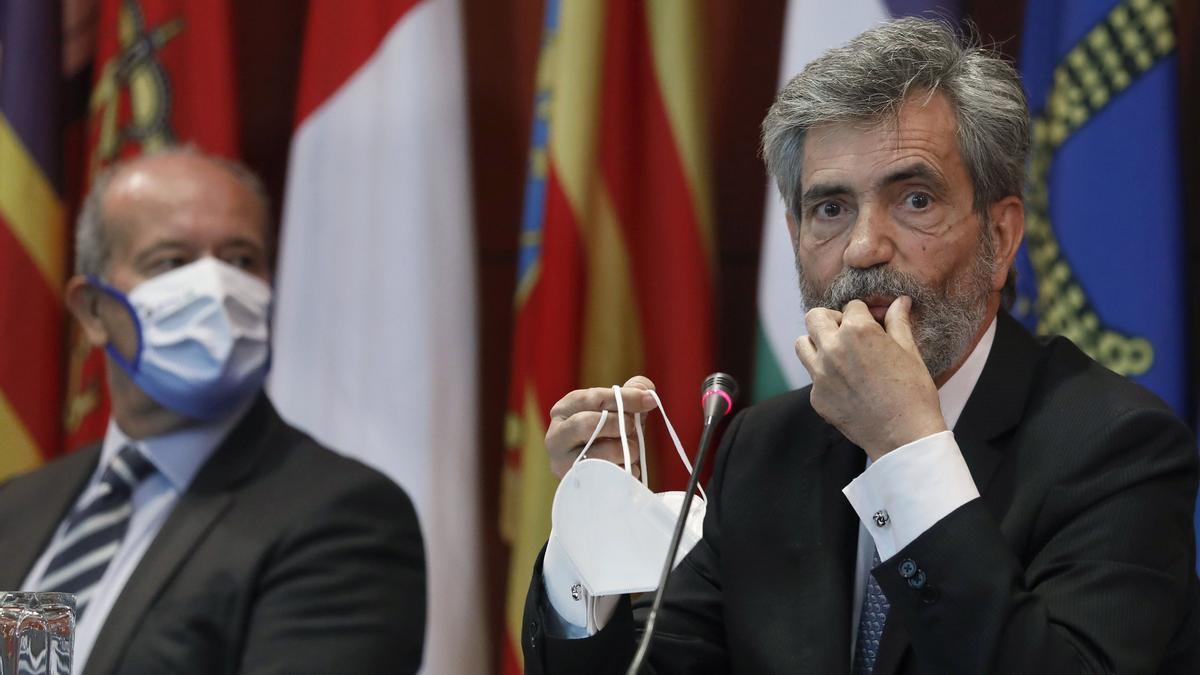El presidente del Tribunal Supremo y del Consejo General del Poder Judicial, Carlos Lesmes.