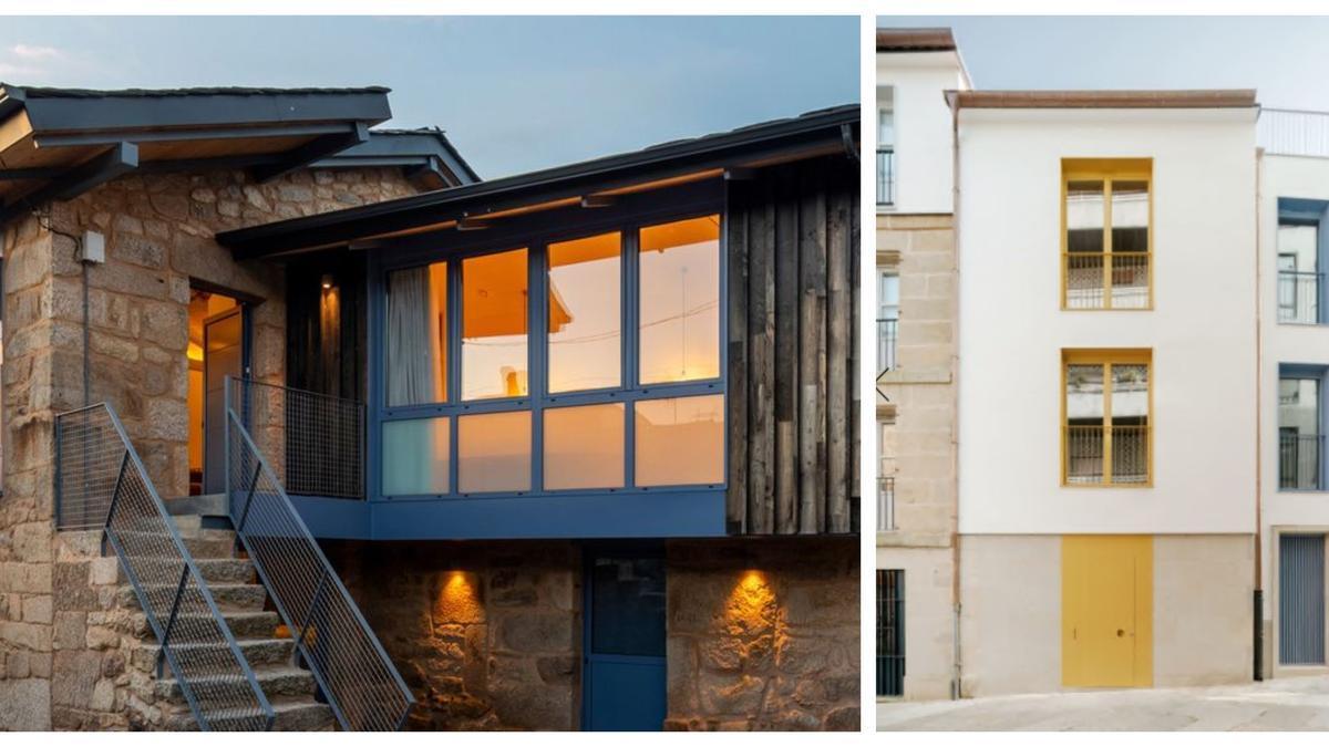 Las dos viviendas candidatas a los premios COAG 2021. //FdV