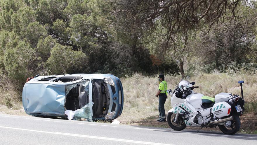 Dos heridos en un accidente de tráfico múltiple
