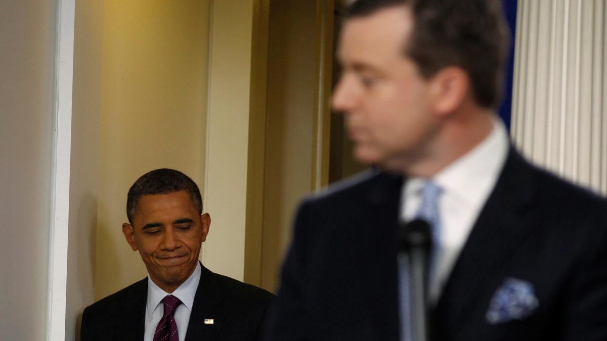 Ed Henry, junto a Barack Obama en una imagen de archivo.