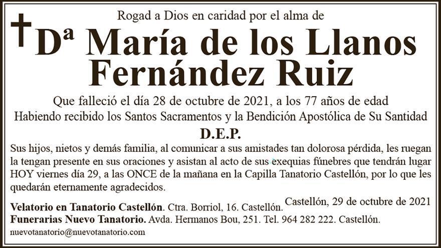 Dª María de los Llanos Fernández Ruiz