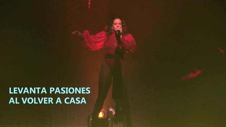 Rosalía levanta pasiones al volver a casa