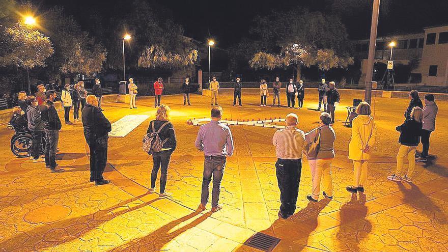 Acto de 'Homes per la Igualtat' en Marratxí para rechazar la violencia machista