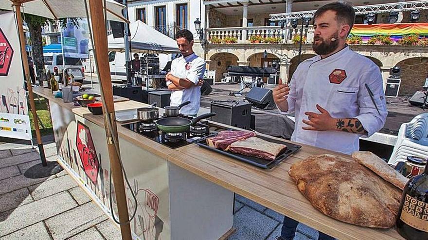 La calabaza será la protagonista de cuatro exhibiciones gastronómicas en la Corredera de Tui