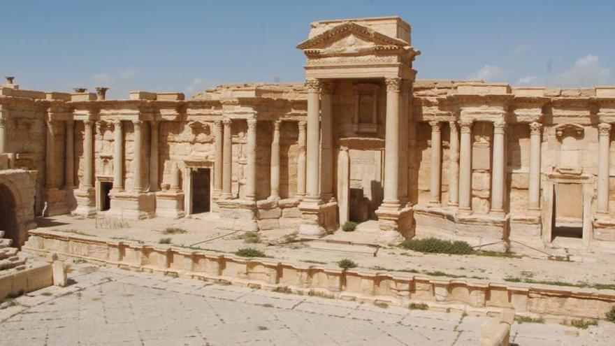 El Estado Islámico destruye parte de las ruinas de Palmira