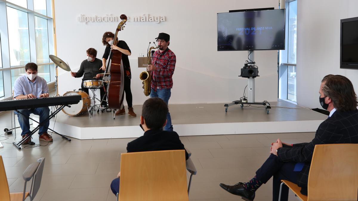 Presentación del Festival de Jazz MVA, este lunes en la Diputación de Málaga.