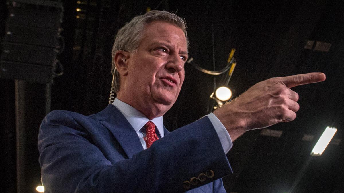 Bill de Blasio, alcalde de Nueva York.