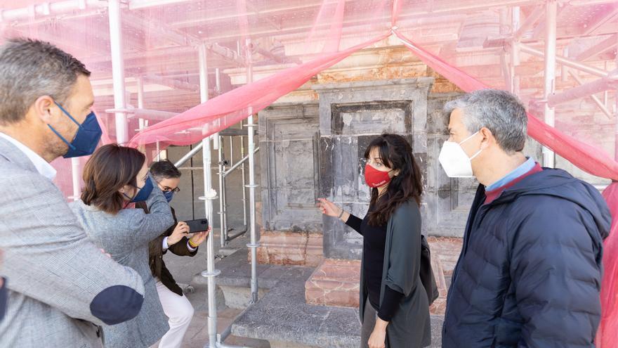La fachada de la Basílica de Caravaca recuperará sus colores originales