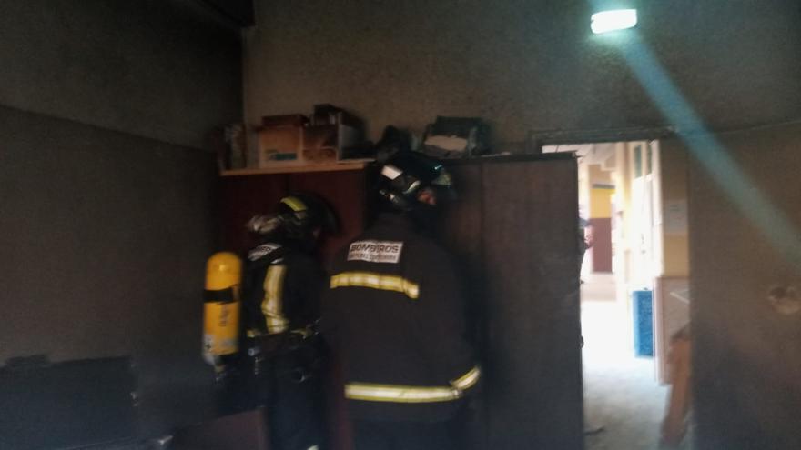 Incendio en el CEIP Aguadulce