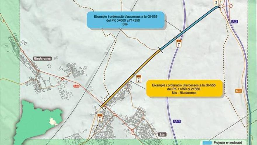 Territori licita el projecte per eixamplar i millorar un tram de la GI-555 a Sils