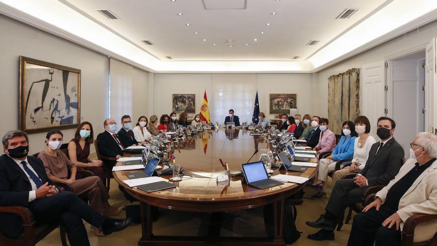 Consejo de Ministros tras la crisis de Gobierno