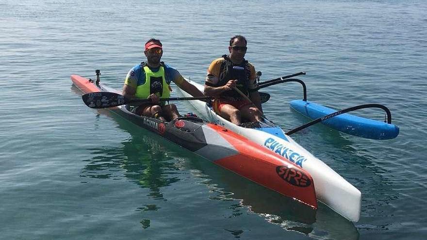 Carlos y Jesús Pérez, en la Copa del Mundo de Kayak de Mar
