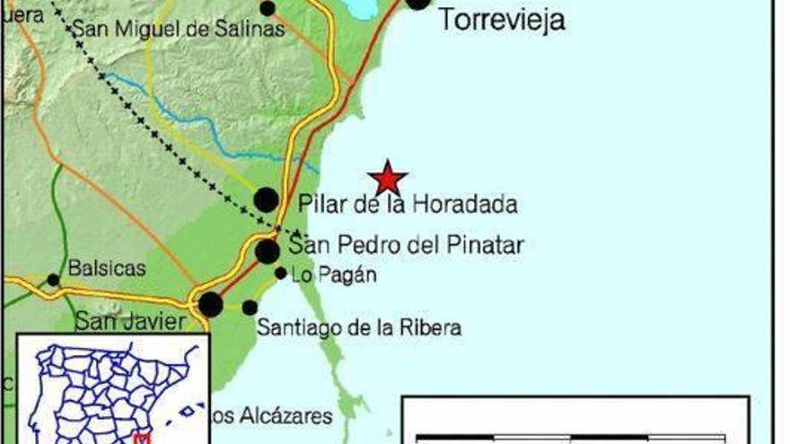 Un seísmo de 3,4 en Pilar de la Horadada se deja sentir en Alicante y Murcia