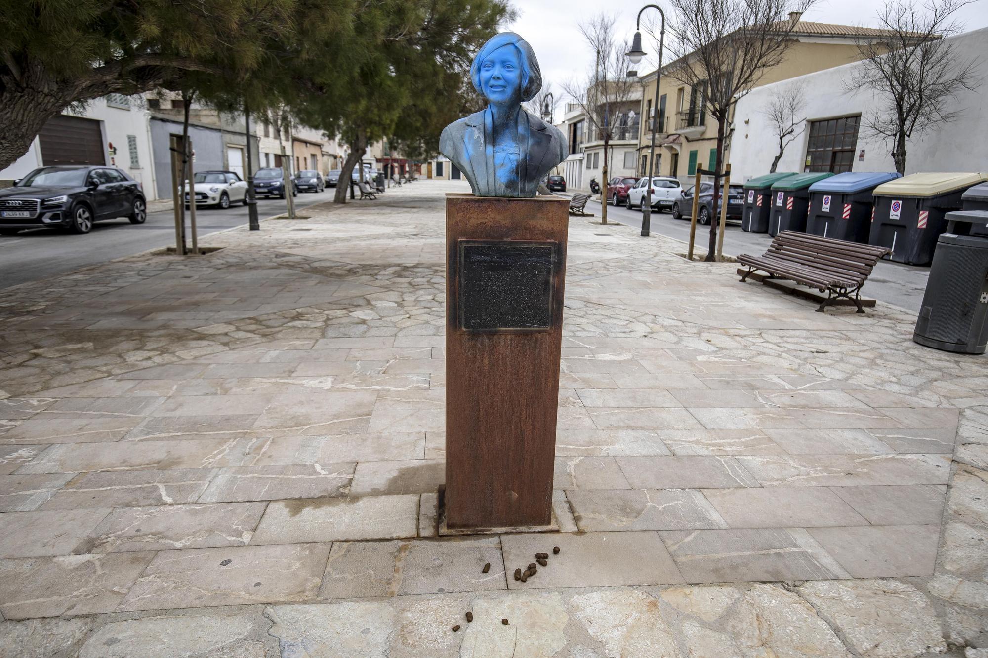 Cultura gasta 1.500 euros en restaurar las cuatro esculturas vandalizadas
