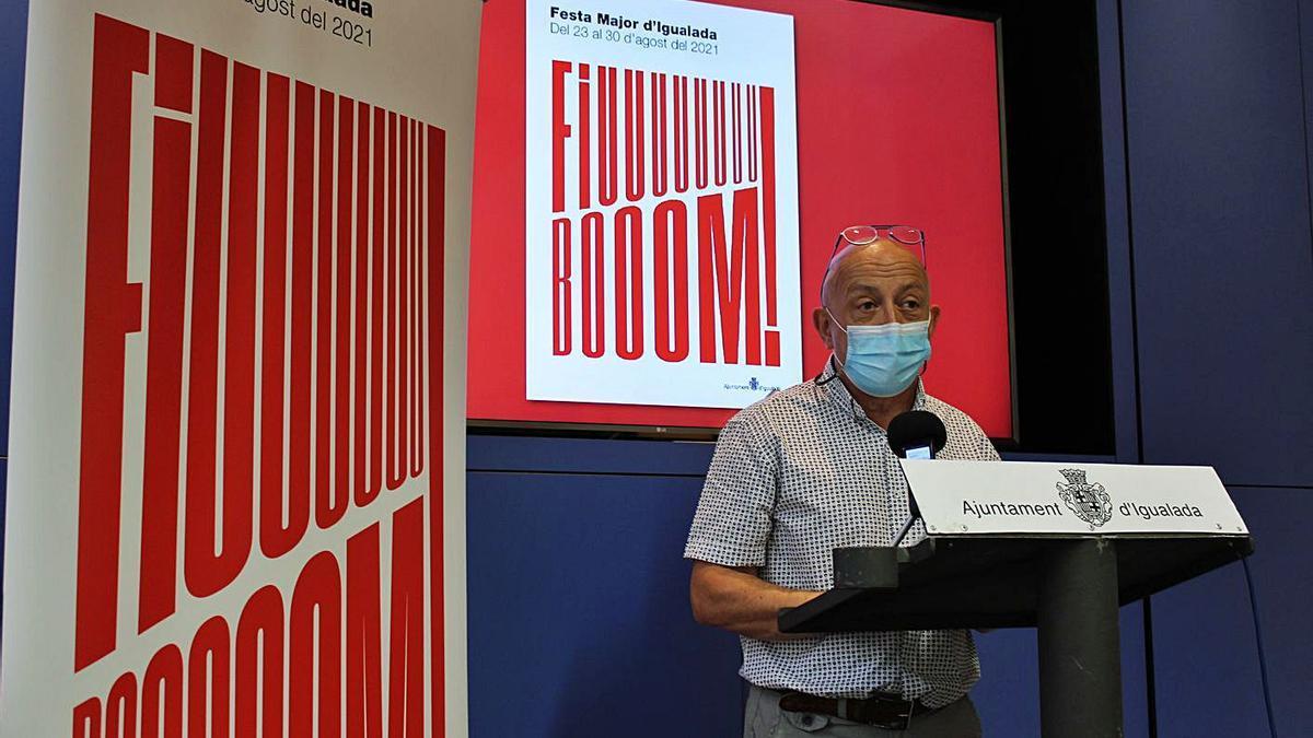 El regidor Pere Camps en la presentació dels actes de festa major | AJ IGUALADA