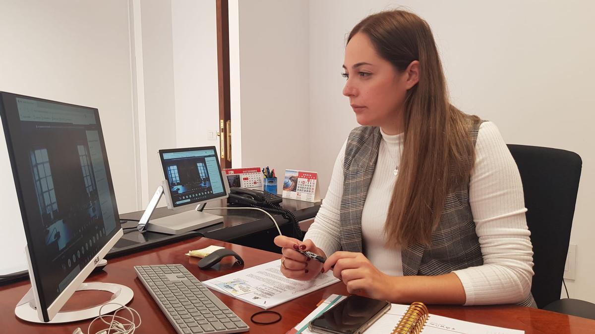 María Rodríguez,  consejera de Medio Ambiente del Cabildo de La Palma.