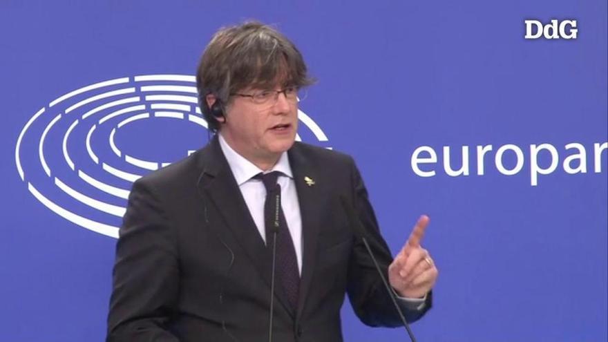 L'Eurocambra aixeca la immunitat a Puigdemont per 400 vots a favor, 248 en contra i 45 abstencions