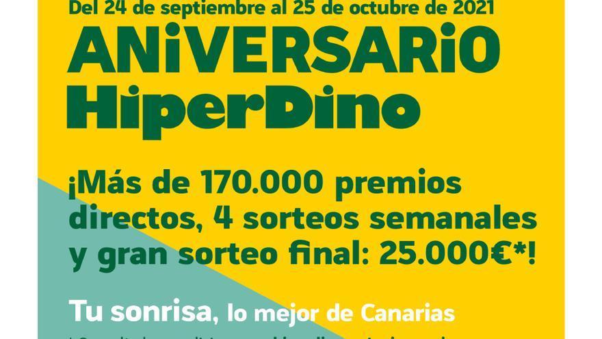 HiperDino quiere devolver la ilusión a los canarios en su Aniversario
