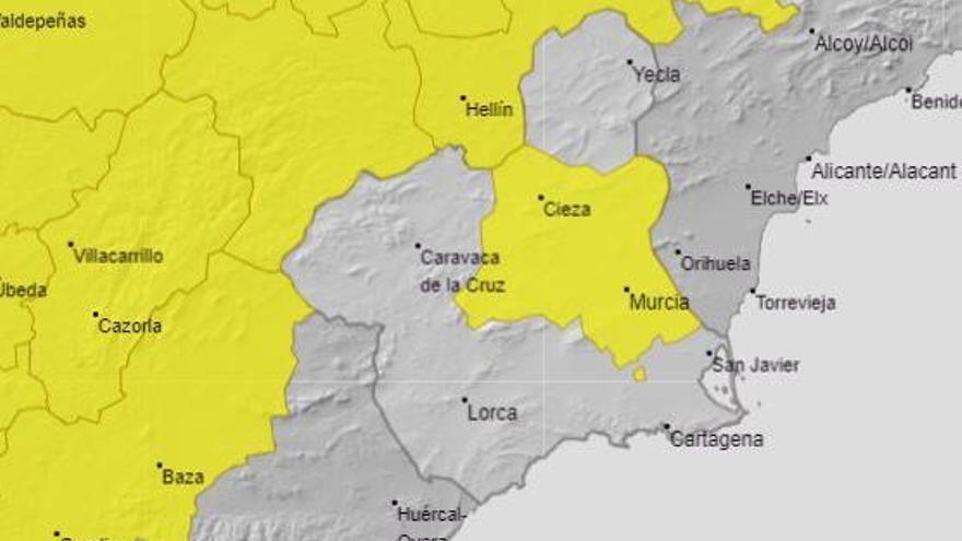 El calor pone hoy en riesgo a la Región de Murcia, en alerta amarilla