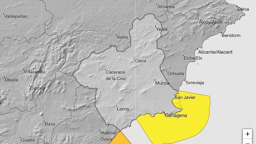 Alerta amarilla por fenómenos costeros este lunes