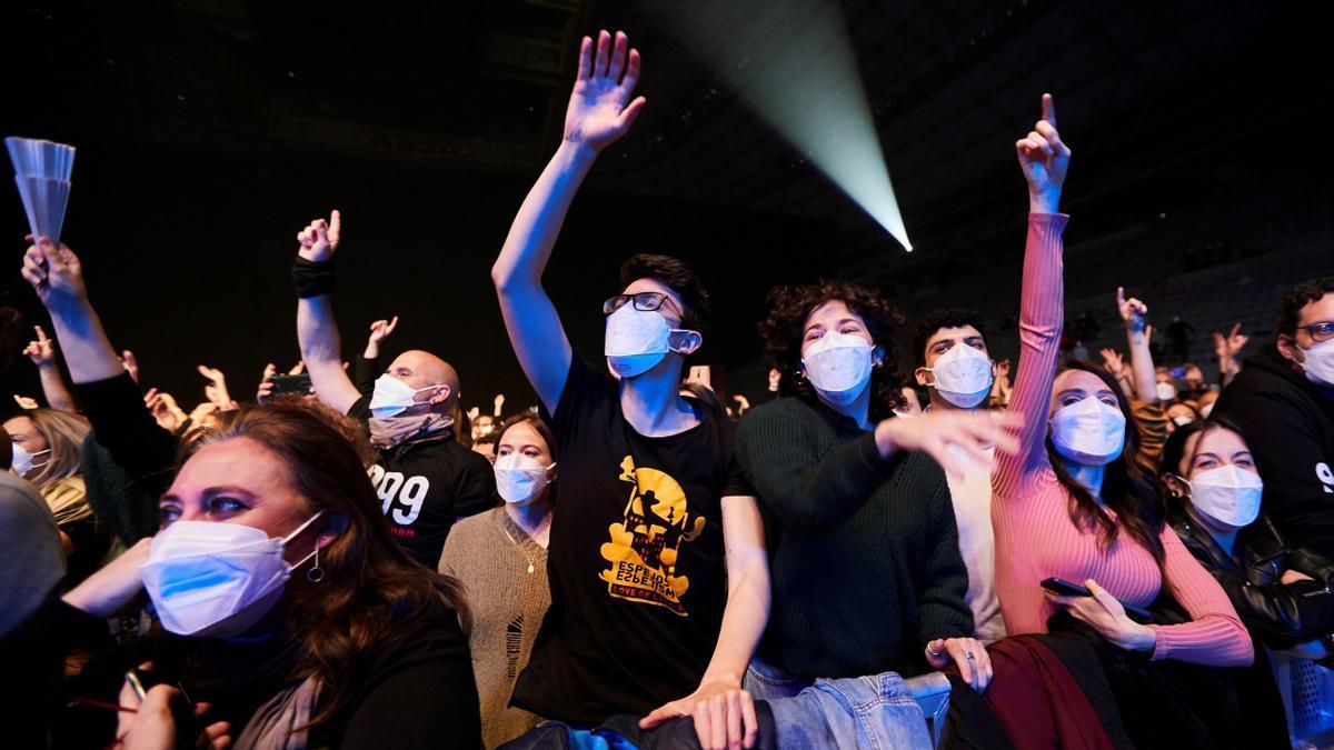 Una imagen del concierto de Love of Lesbian en Barcelona.