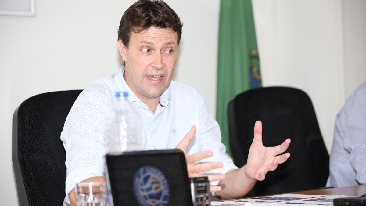 Toni Gallego, presidente del Lucentum, en la presentación de la campaña de abonos.