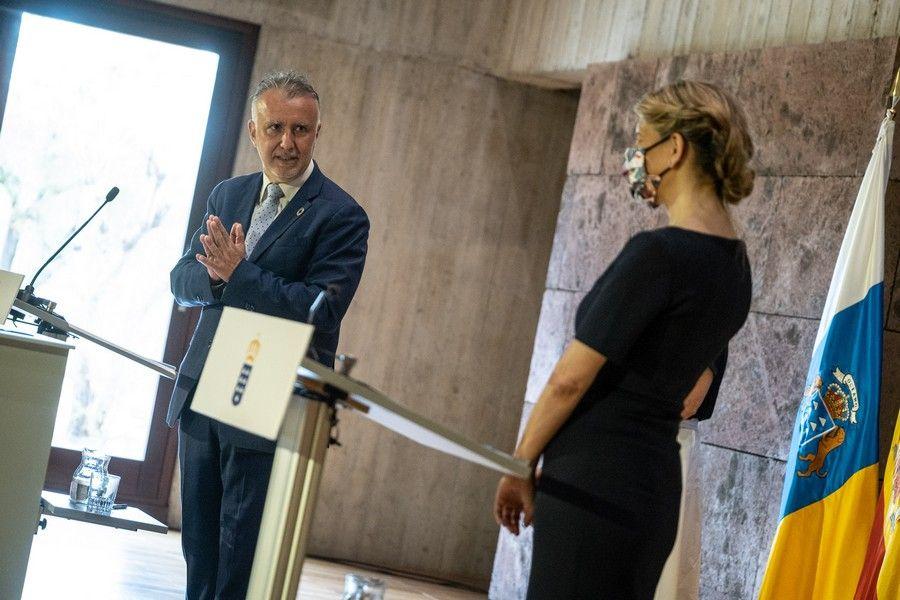 Visita a Tenerife de la ministra Yolanda Díaz