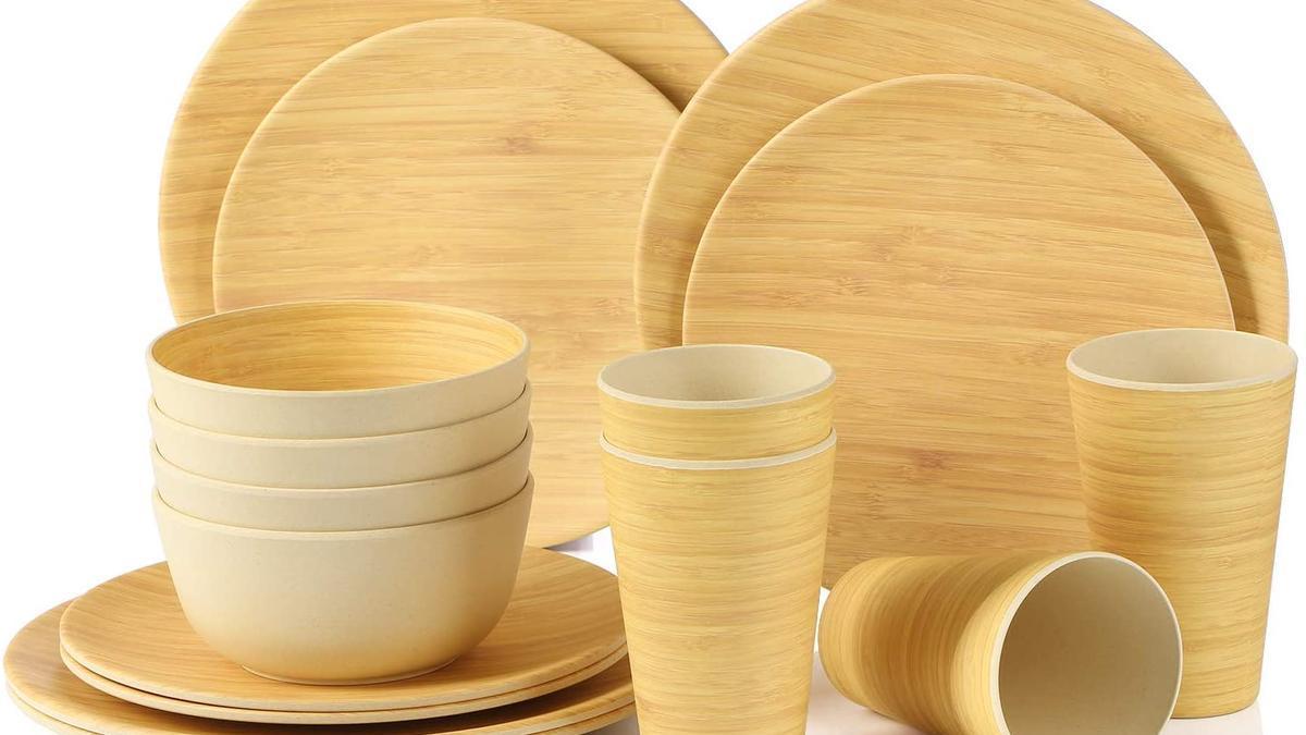 Menaje de bambú, ¡cuidado!
