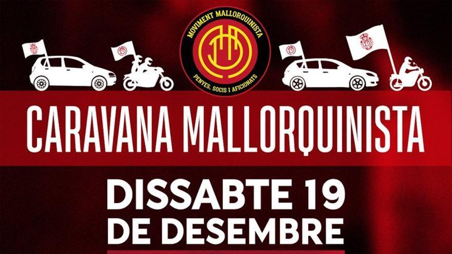 El Moviment Mallorquinista convoca una caravana de coches para apoyar al Mallorca
