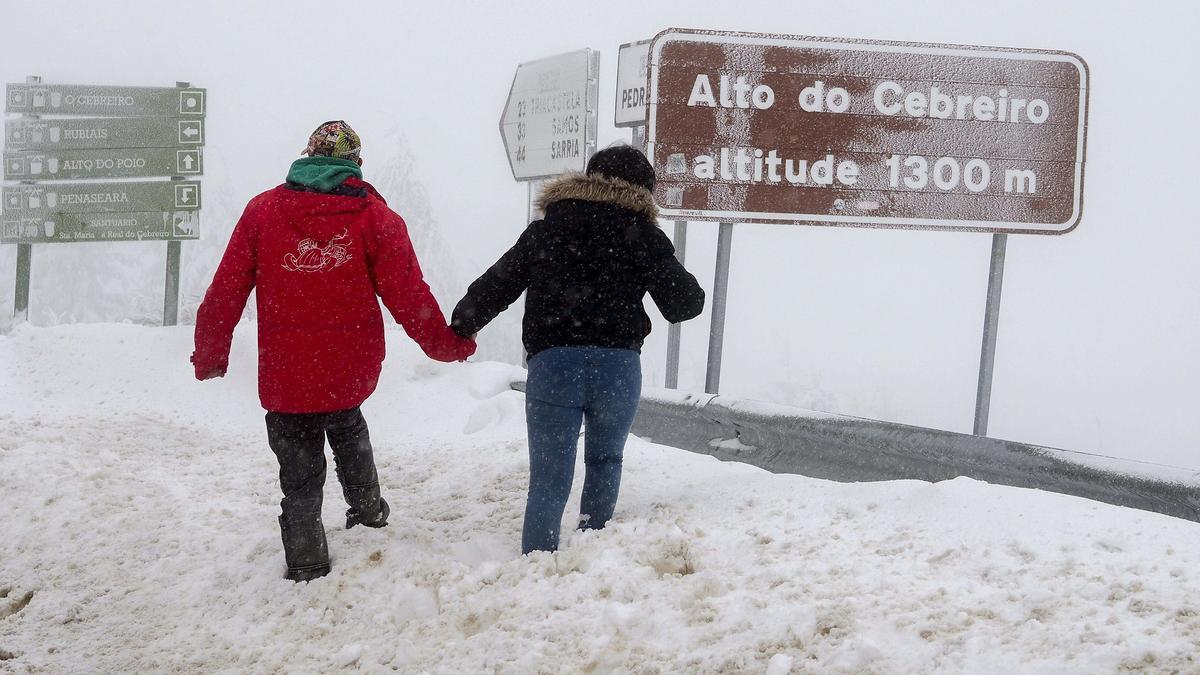 Nieve O Cebreiro.