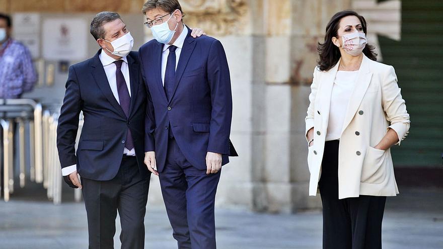 El presidente de Castilla-La Mancha tras el recorte del trasvase: «Estamos logrando cubos de agua»