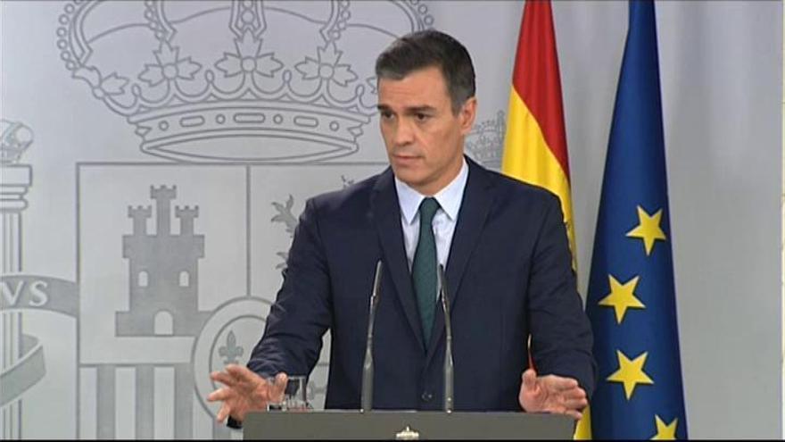 Sánchez defiende que solo PSOE y Podemos abogan por el diálogo en Cataluña