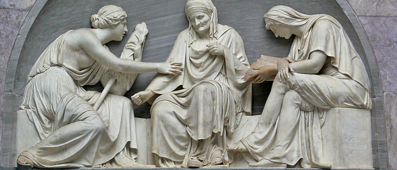 Las tres Moiras, Relieve. Antigua Galería Nacional, Berlín