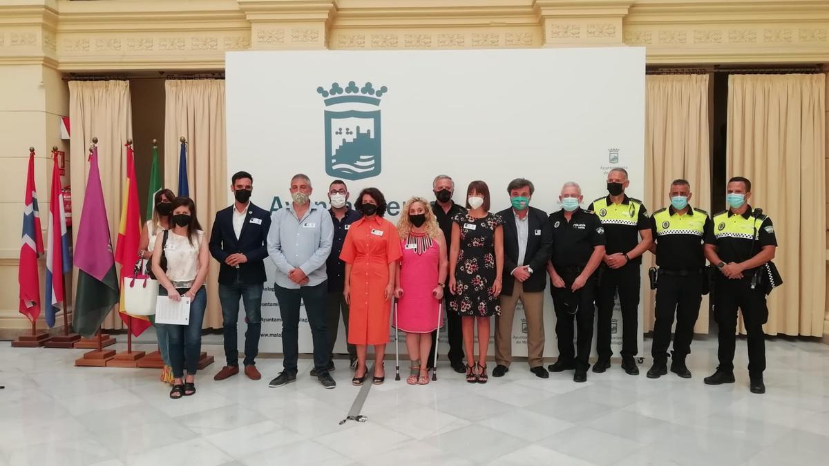 Acto de conmemoración por las víctimas de delitos de odio en el Ayuntamiento de Málaga
