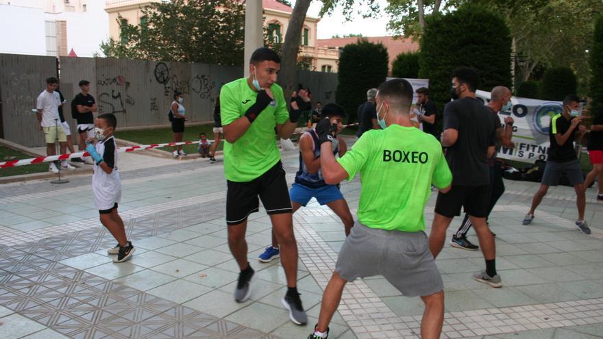 Exhibición de boxeo en Lorca