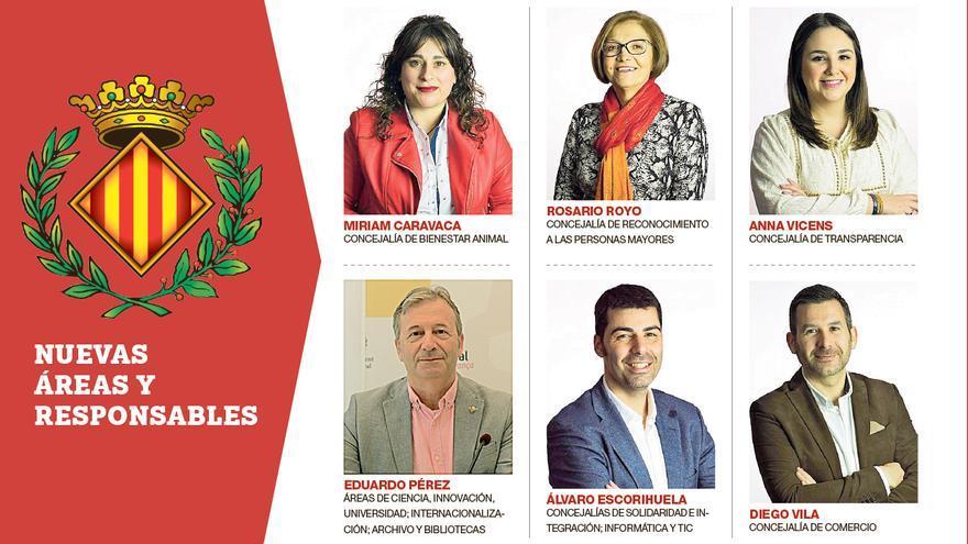 Vila-real delegará en seis ediles  sus nueve concejalías de estreno
