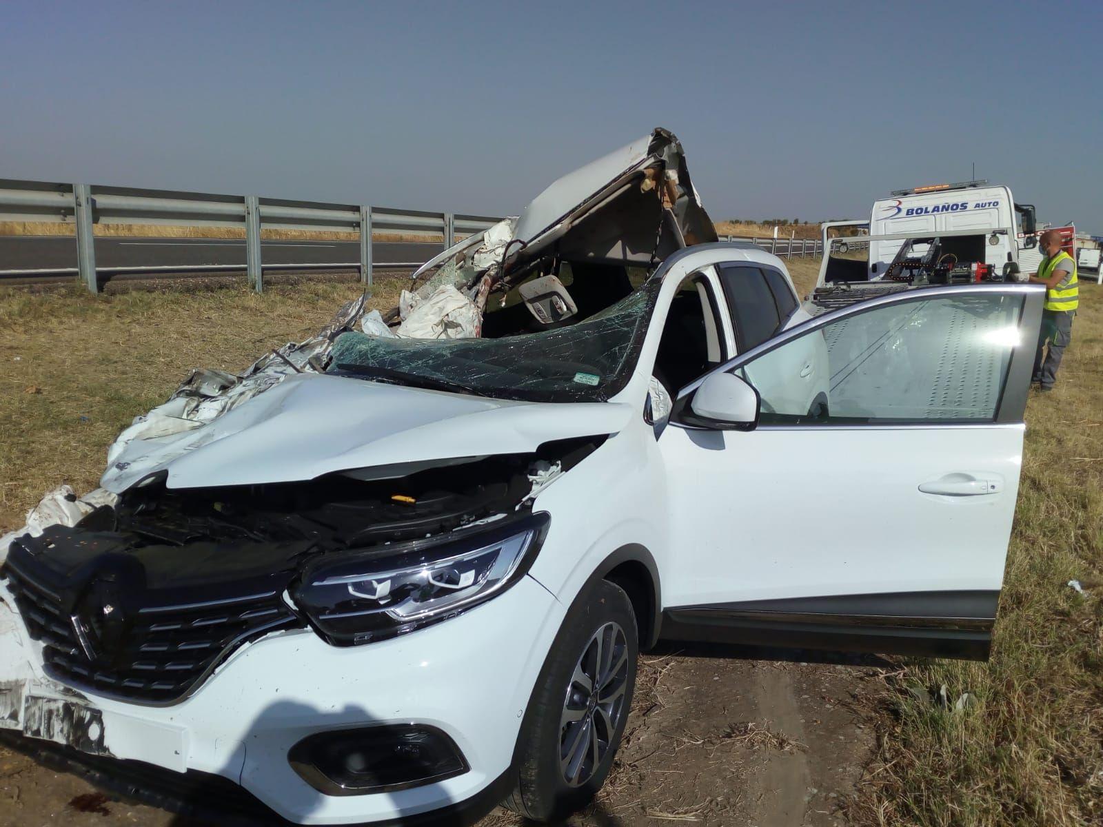 Brutal accidente en la A-6, a la altura de Castrogonzalo