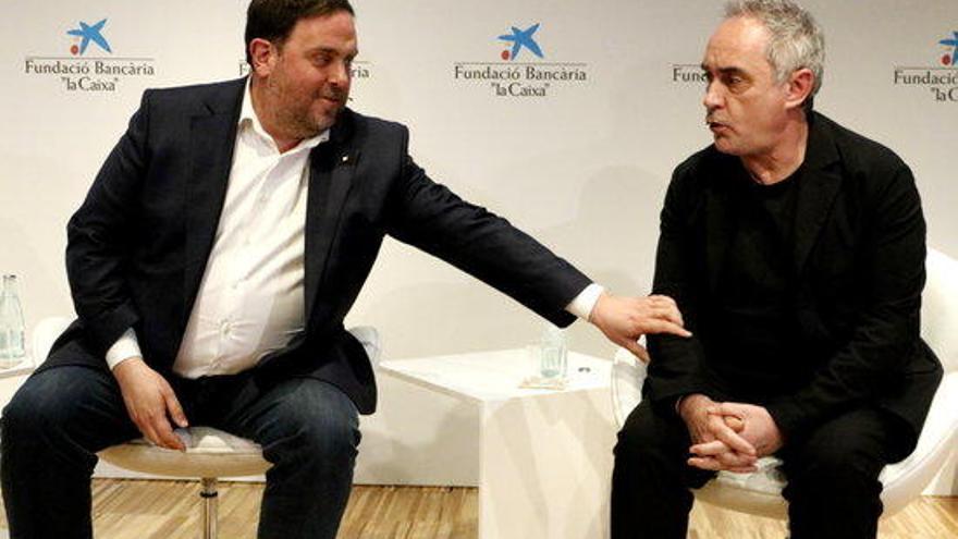 Ferran Adrià o com posar Oriol Junqueras entre l'espasa i la paret davant del públic