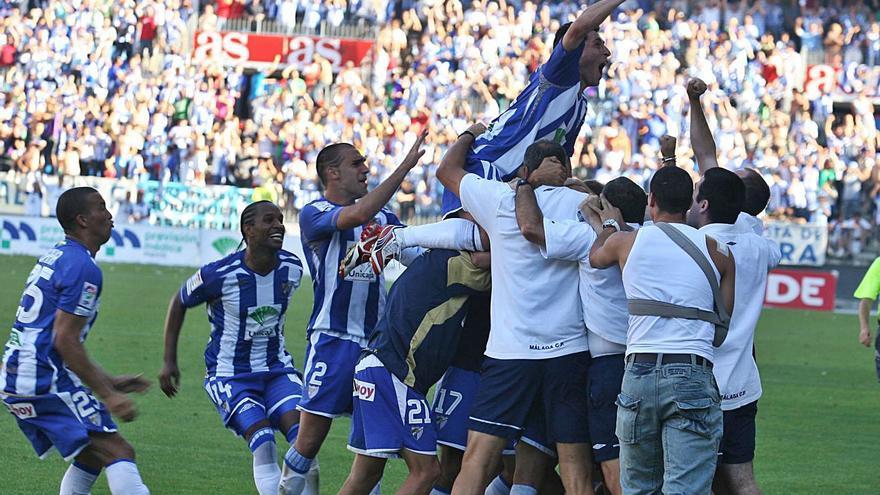 Málaga CF -Tenerife: recuerdos de un ascenso inolvidable