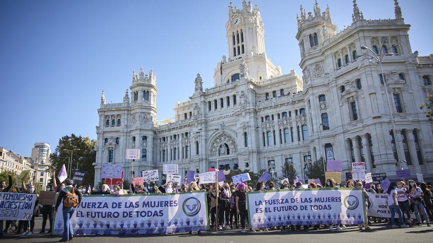Mujeres de toda España toman las calles de Madrid contra la violencia machista