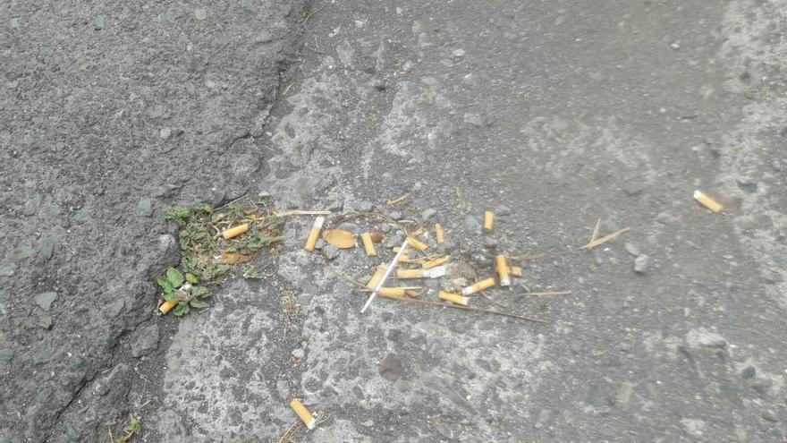 Vecinos de La Pardilla critican la suciedad de la carretera general del barrio