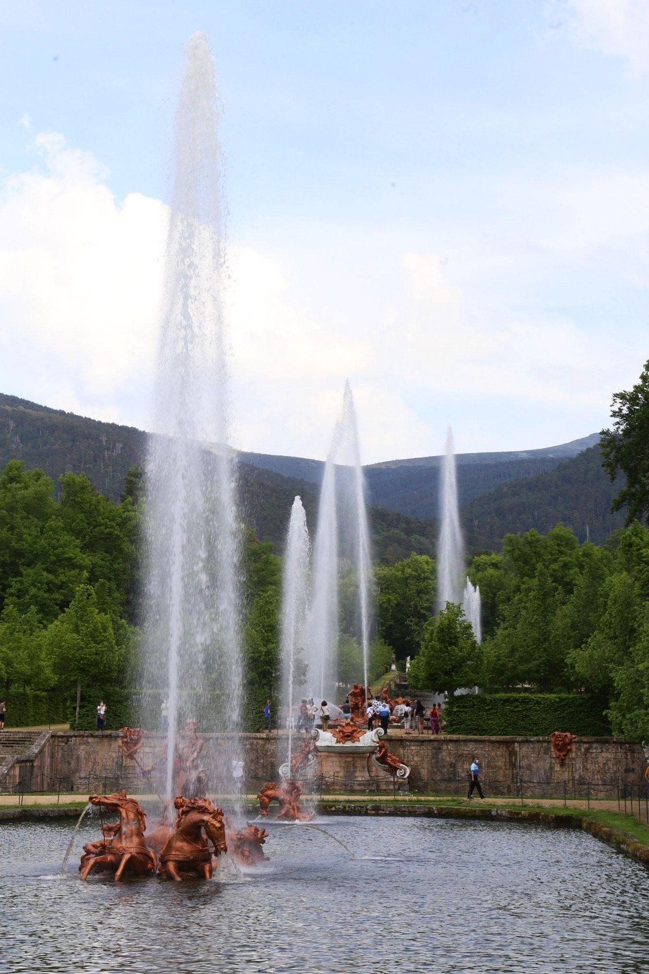 Fotogalería: Así ha sido el encendido de las fuentes de la Granja de San Ildefonso