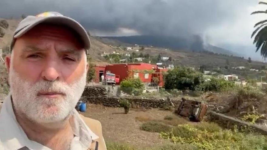 El chef José Andrés hace una encuesta para 'bautizar' el volcán de La Palma